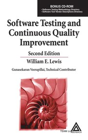 Cover of: Software testing and continuous quality improvement | Lewis, William E.