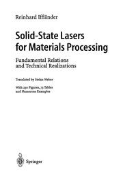 Cover of: Solid-State Lasers for Materials Processing | Reinhard Iffländer