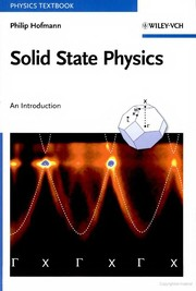 Cover of: Solid state physics | Philip Hofmann