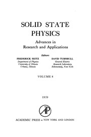 Cover of: Solid State Physics, 8.