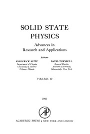 Cover of: Solid State Physics, 10