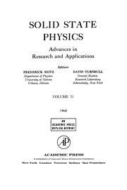 Cover of: Solid State Physics, 11