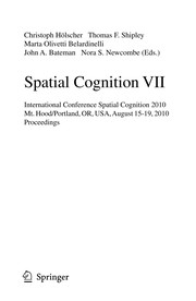 Cover of: Spatial Cognition VII | Christoph Hölscher