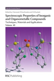 Cover of: Spectroscopic properties of inorganic and organometallic compounds