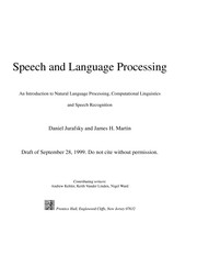 Cover of: Speech and language processing | Daniel S. Jurafsky