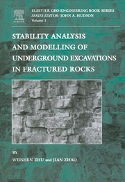 Cover of: Stability analysis and modelling of underground excavations in fractured rocks | Weishen Zhu