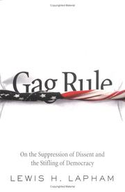 Cover of: Gag rule