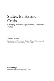 Cover of: States, banks and crisis | Thomas Marois