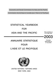 Cover of: Statistical yearbook for Asia and the Pacific | United Nations. Economic and Social Commission for Asia and the Pacific
