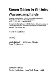 Cover of: Steam Tables in SI-Units/Wasserdampftafeln