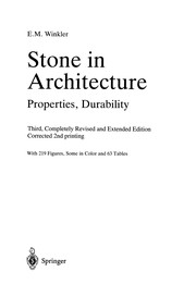 Cover of: Stone in Architecture | Erhard M. Winkler