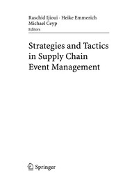 Cover of: Strategies and tactics in supply chain event management |