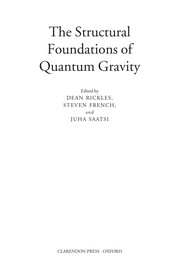 Cover of: The structural foundations of quantum gravity |