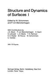 Cover of: Structure and Dynamics of Surfaces I | Wolfram Schommers
