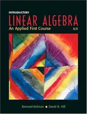 Cover of: Introductory linear algebra
