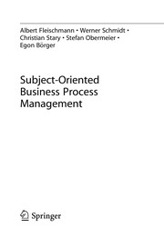 Cover of: Subject-Oriented Business Process Management | Albert Fleischmann