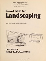 Cover of: Sunset ideas for landscaping |