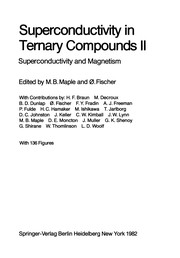 Cover of: Superconductivity in Ternary Compounds II | M. Brian Maple