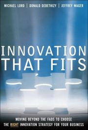 Cover of: Innovation that fits | Michael D. Lord
