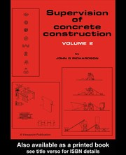 Cover of: Supervision of concrete construction