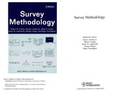 Cover of: Survey methodology |