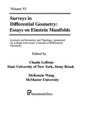 Cover of: Essays on Einstein manifolds |