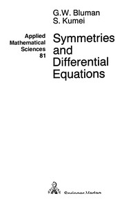 Cover of: Symmetries and differential equations | George W. Bluman