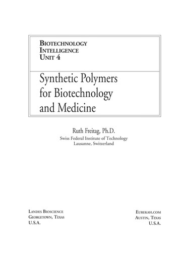 Synthetic polymers for biotechnology and medicine by No name