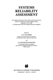 Cover of: Systems Reliability Assessment | A. G. Colombo