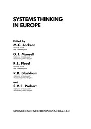 Cover of: Systems Thinking in Europe | M. C. Jackson