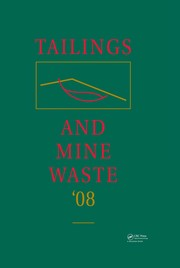 Cover of: Tailings and mine waste