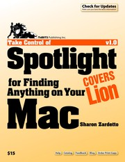 Cover of: Take control of Spotlight for finding anything on your Mac