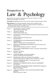 Cover of: Taking psychology and law into the twenty-first century |
