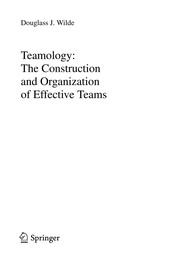Cover of: Teamology | Douglass J. Wilde