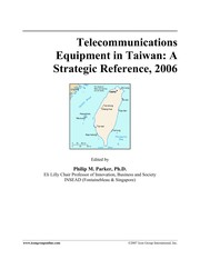 Cover of: Telecommunication equipment in Taiwan | Philip M. Parker