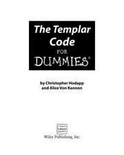 Cover of: The Templar code for dummies | Christopher Hodapp