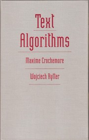 Cover of: Text algorithms