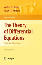 Cover of: The Theory of Differential Equations