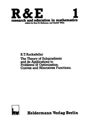 Cover of: The theory of subgradients and its applications to problems of optimization