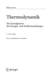 Cover of: Thermodynamik
