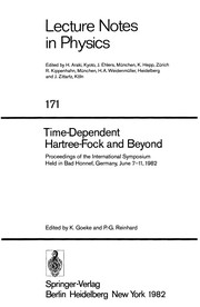 Cover of: Time-Dependent Hartree-Fock and Beyond |