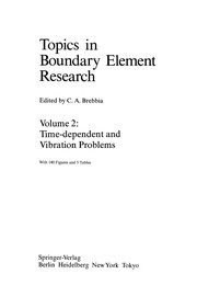 Cover of: Time-dependent and Vibration Problems | Carlos A. Brebbia