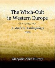 Cover of: The Witch-Cult in Western Europe (1921)