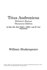 Cover of: Titus Andronicus | William Shakespeare