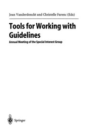 Cover of: Tools for Working with Guidelines | Jean Vanderdonckt