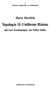 Cover of: Topologie II