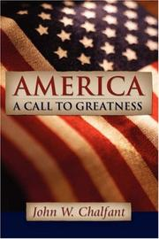 Cover of: America-A Call To Greatness