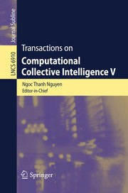 Cover of: Transactions on Computational Collective Intelligence V | Ngб»Ќc Thanh Nguyб»…n