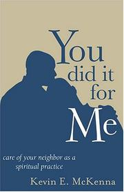 Cover of: You Did It For Me
