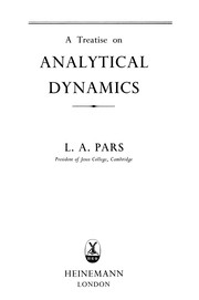 Cover of: A treatise on analytical dynamics